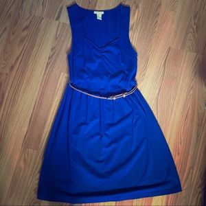 Blue forever 21 dress with belt. Size small